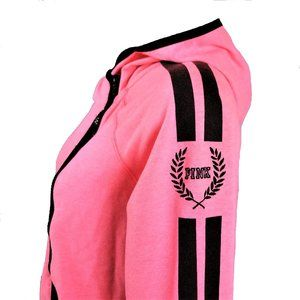 VS PINK Side Zip Hoodie Jacket Soft Relaxed Fit